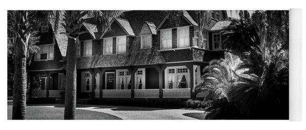 Moss Cottage In Black And White Yoga Mat