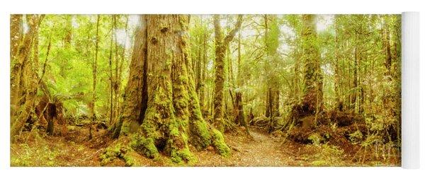 Mossy Forest Trails Yoga Mat