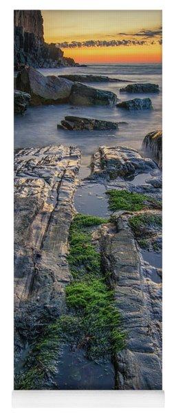 Mossy Rocks At Bald Head Cliff  Yoga Mat