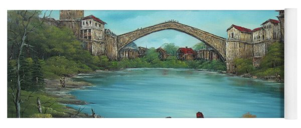 Mostar Bridge Story Yoga Mat