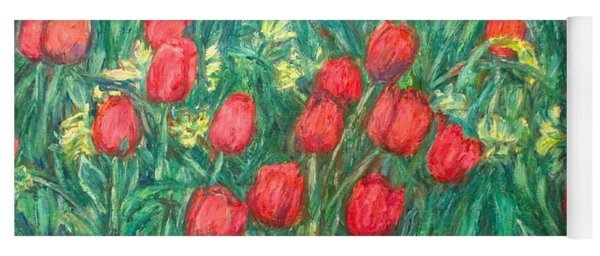 Mostly Tulips Yoga Mat