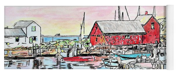 Motif #1 Rockport, Massachusetts Yoga Mat