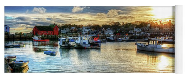 Motif #1 Sunrise Rockport Ma Yoga Mat
