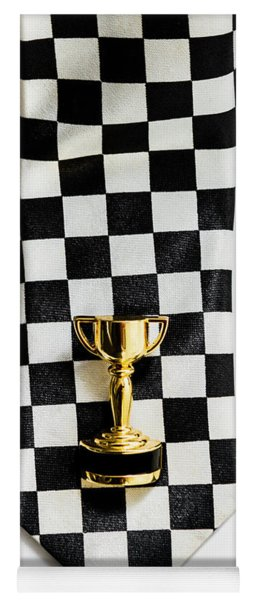 Motor Sport Racing Tie And Trophy Yoga Mat