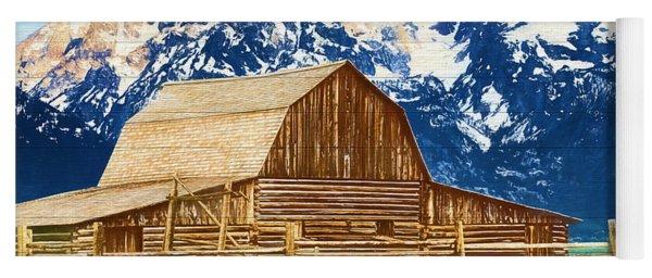 Moulton Barn Wood Panels Yoga Mat