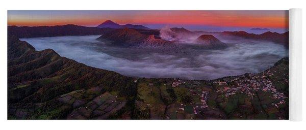 Mount Bromo Misty Sunrise Yoga Mat