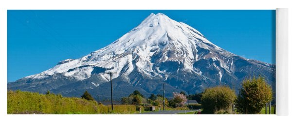 Mount Egmont Taranaki New Zealand Yoga Mat