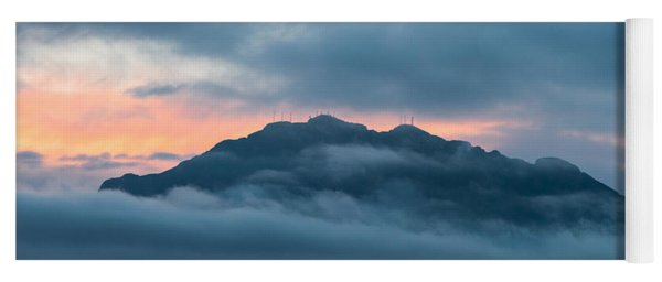 Mount Franklin Stormy Winter Sunset Pano Yoga Mat