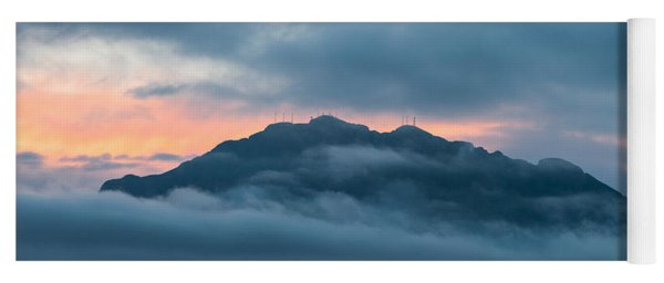 Mount Franklin Stormy Winter Sunset Pano Yoga Mat