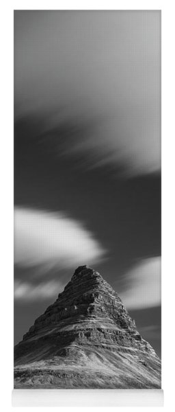 Mount Kirkjufell In Iceland Under The Sky Yoga Mat