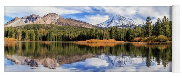 Mount Lassen Reflections Panorama Yoga Mat