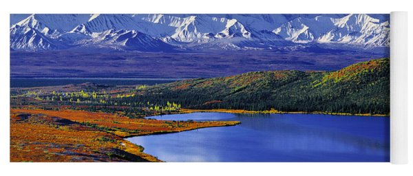 Mount Mckinley And Wonder Lake Campground In The Fall Yoga Mat