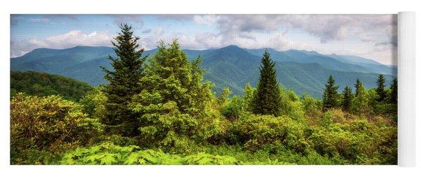 Mount Mitchell Asheville Nc Blue Ridge Parkway Mountains Landscape Yoga Mat