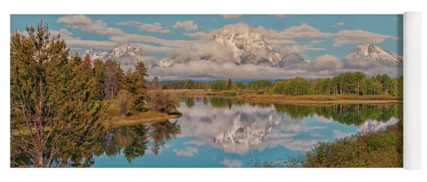Mount Moran On Oxbow Bend Yoga Mat