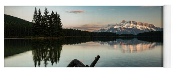 Mount Rundle And Two Jack Lake Yoga Mat
