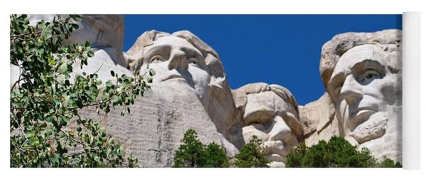 Mount Rushmore Close Up View Yoga Mat