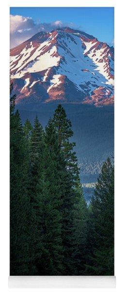 Mount Shasta - A Roadside View Yoga Mat