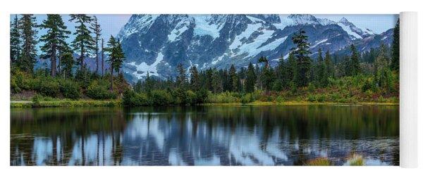 Mount Shuksan And Picture Lake Yoga Mat