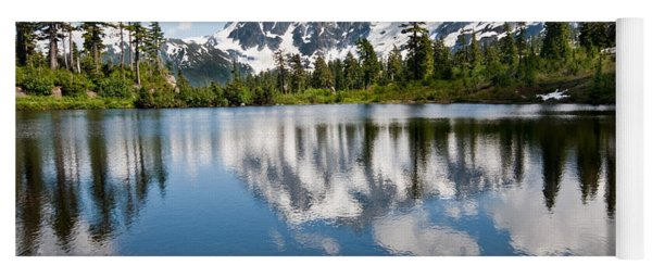 Mount Shuksan Reflected In Picture Lake Yoga Mat