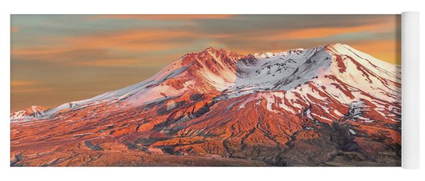Mount St Helens Sunset Washington State Yoga Mat