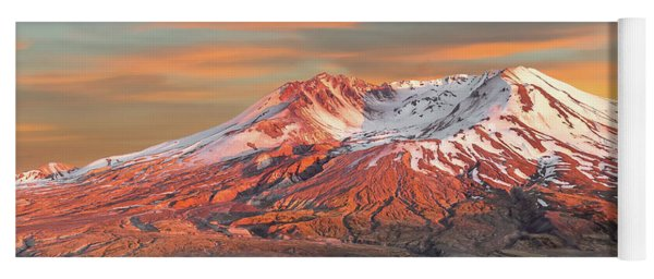 Mount St Helens Sunset Washington State Yoga Mat