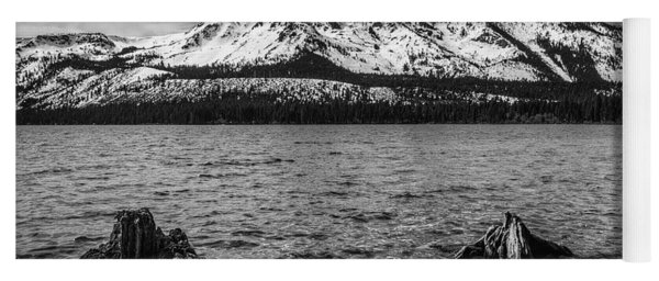 Mount Tallac Black And White Yoga Mat