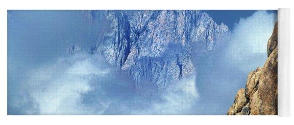 Mount Whitney Clearing Storm Eastern Sierras California Yoga Mat