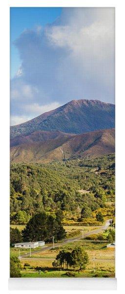 Mount Zeehan Valley Town. West Tasmania Australia Yoga Mat