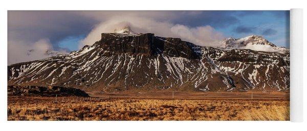 Mountain And Land, Iceland Yoga Mat