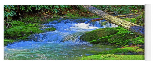 Mountain Appalachian Stream Yoga Mat