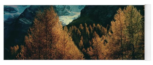 Mountain Autumn Yoga Mat