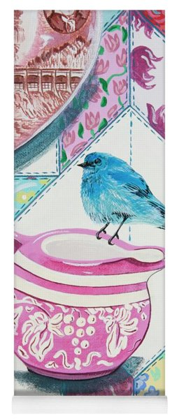 Mountain Bluebird At Tea Yoga Mat