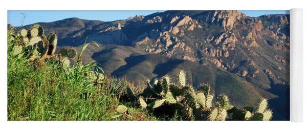 Mountain Cactus View - Santa Monica Mountains Yoga Mat