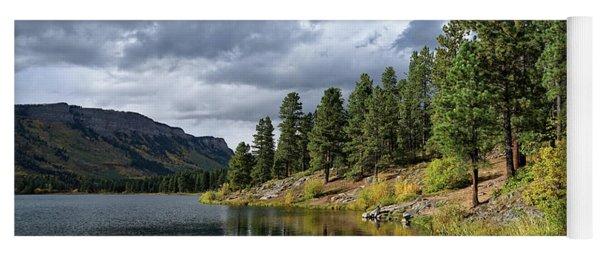 Mountain Lake In Autumn Yoga Mat