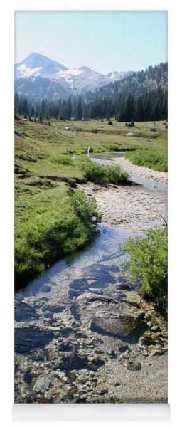 Mountain Meadow And Stream Yoga Mat