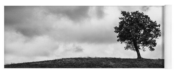 Tree On Hill - Doughton Park Blue Ridge Parkway Yoga Mat