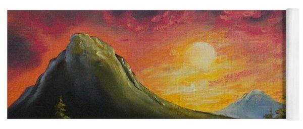 Mountain Sunset Yoga Mat