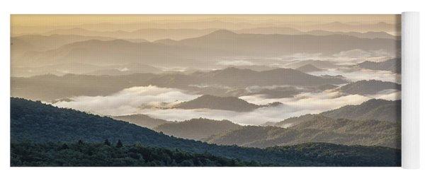 Mountain Valley Fog - Blue Ridge Parkway Yoga Mat