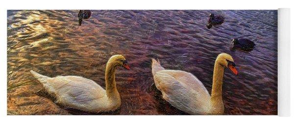 Mr And Mrs Swan Go Viisiting Yoga Mat