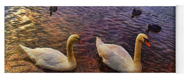 Mr And Mrs Swan Go Viisiting Yoga Mat