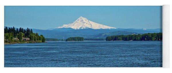 Mt. Hood Above The Columbia River Yoga Mat