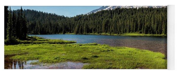 Mt Rainier From Reflection Lake, No. 2 Yoga Mat