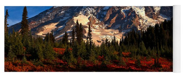 Mt. Rainier Paradise Morning Yoga Mat