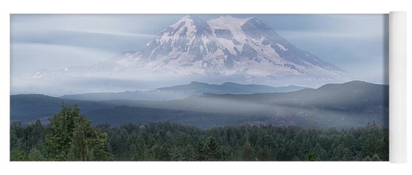 Yoga Mat featuring the photograph Mt. Rainier by Patti Deters