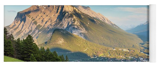 Yoga Mat featuring the photograph Mt. Rundle by Mark Mille