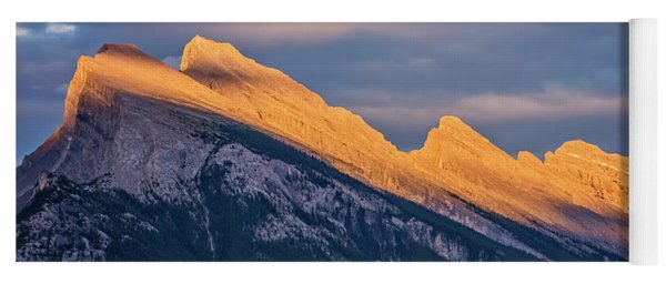 Mt Rundle Sunset Banff Yoga Mat