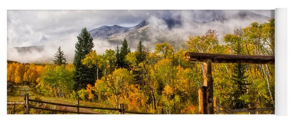 Mt Sopris Under The Clouds Yoga Mat