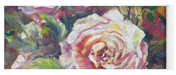 Multi-hue And Petal Rose. Yoga Mat