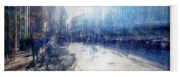 Multiple Exposure Of Shopping Street Yoga Mat