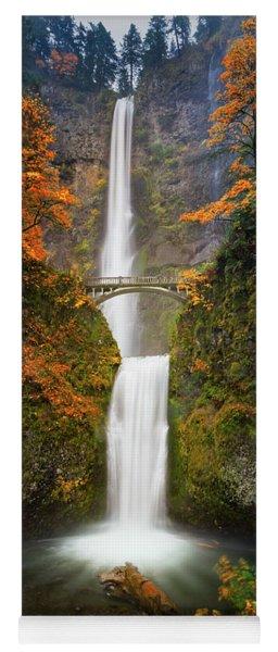 Multnomah Falls In Autumn Colors Yoga Mat